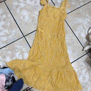 🚚 黃色條紋🐟洋裝