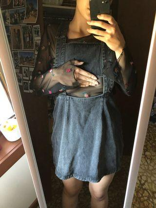 Evil twin denim pinafore