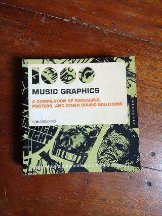 1000 Music Graphics Compilation of Packaging, Poster