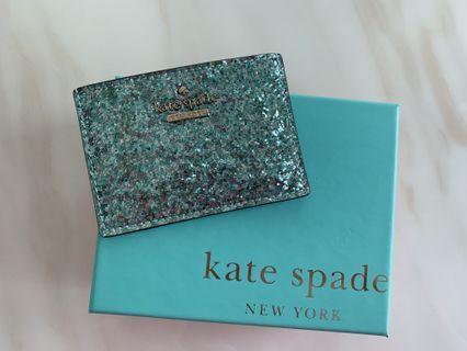 100%Real Kate Spade Glitter Card Holder卡片套