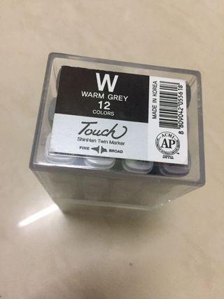 Touch-marker-warm-grey-set-12。一般交收荃灣綫或互夾