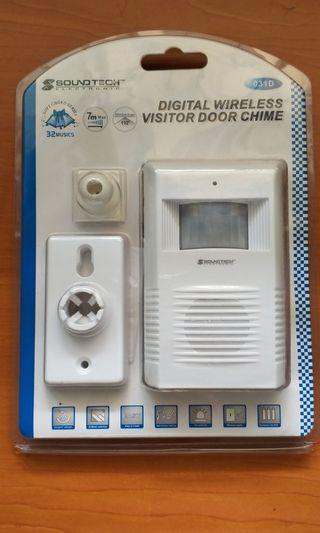 Digital wireless visitor door chime
