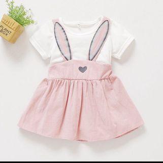 BN Baby Girl Bunny Rabbit Pink Jumper Dress 12-18m & 18-24m avail!