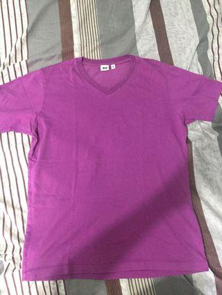 Uni Qlo Plain purple shirt