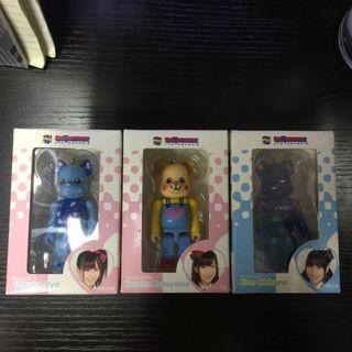 Medicom Toy x AKB48 一番賞 AKB 大家志津香 / 片山陽加 / 近野莉菜  Be@rbrick Bearbrick