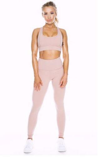 Saski Collection Dusty Pink High Waist Leggings