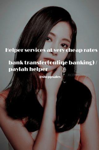bank transfer and paylah helper