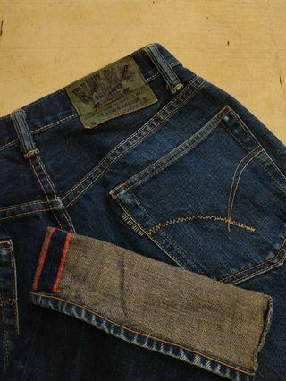 Vtg jeans blue blue  japan  no nudie levis momotaro denime