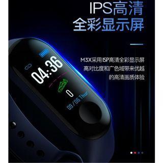 【保固一年】2018 彩屏 智能 手環 M3X 監測 3代 IP68 防水 心率 血壓 睡眠 微信 FB 跑步 手表