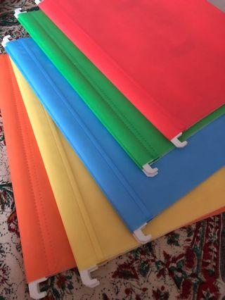 Hanging Files - colourful