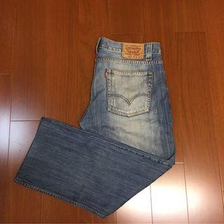 🚚 (size 34/32 版稍大) Levi's 523水洗破壞直筒牛仔褲