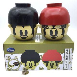 (全新) 購自日本 原裝正品 Disney Mickey Minnie 迪士尼 米奇米妮 情侶陶瓷碗 1套2對
