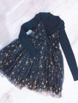 Girl black lace Dinner Dress #EST50