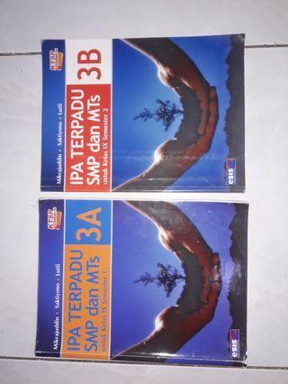 Buku Pelajaran IPA terpadu SMP/MTs 3A dan 3B