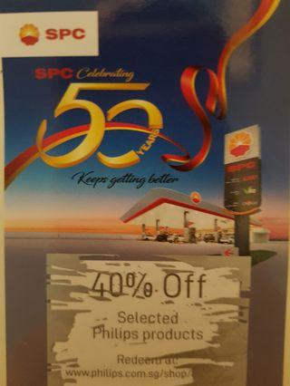 Philips 40% off voucher