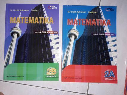 Buku Pelajaran Matematika SMP 2A dan 2B