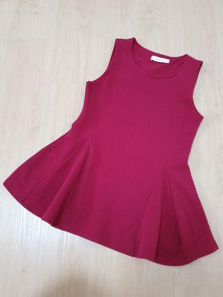 Ribbed Sleeveless Red Peplum Top #ENDGAMEyourEXCESS