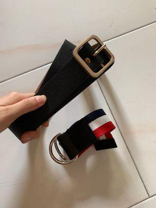 🚚 Black PU leather Korean belt
