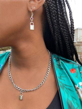 Locked up earrings