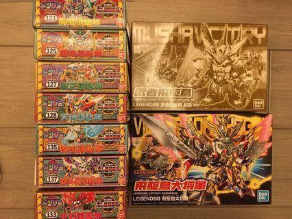 BB戰士 七人之超將軍set SD Gundam 高達模型