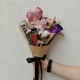 Chocolate Bouquet + Flowers