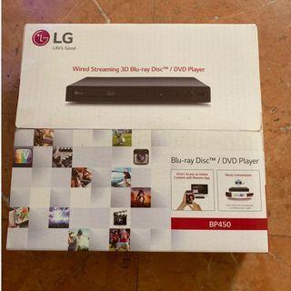 LG blue ray player BP450