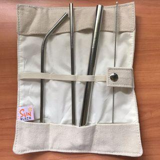 Stainless Steel Straw Set With Pouch