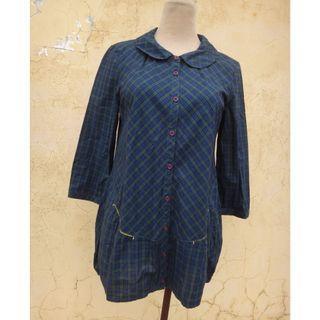 全新 正品 a la sha 綠色 七分袖上衣 size: S