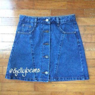NEW Denim Button Down Skirt