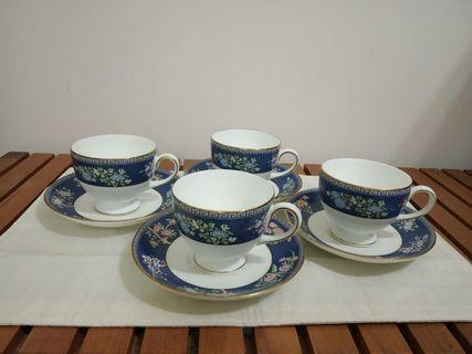 Wedgewood Blue Siam Teacup Saucer Set
