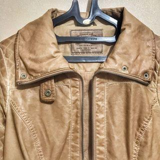 Zara Trf Genuine Leather Jacket/ Jaket Kulit Zara Trafaluc