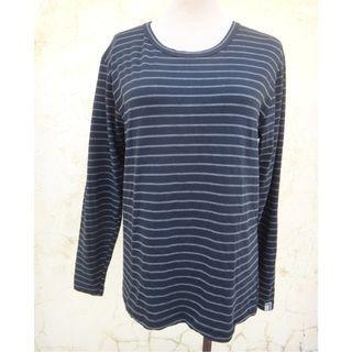 全新 正品 Kinloch Anderson KA 黑色條紋 保暖發熱 內搭上衣 size: L