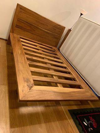 Iron wood bedframe
