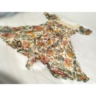 ASOS Floral Vintage Lace Square Collar Sun Dress