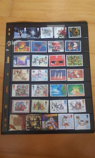 50 Great Britain Xmas Christmas Stamp