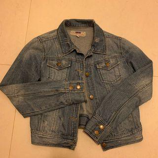Denim Jacket vintage jeans牛仔褸外套復古懷舊洗水手仔淺藍厚料短身日系風鍋釘有袋