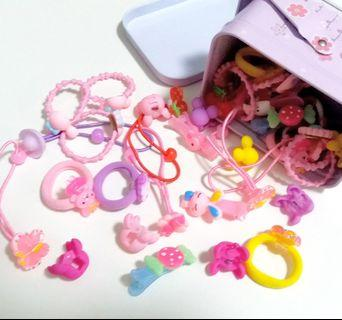 40件 女童頭飾髮繩髮夾