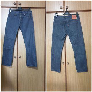 Levis Jeans used grey model 501 size 31