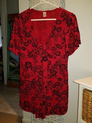 Ladies size medium red top
