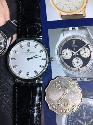 江詩丹頓 VACHERON CONSTANTlN全正常  18K真鑽石 男裝ROLEX 勞力士古董錶 精工