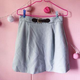 Buckle Skirt in Light Blue