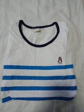 🚚 hush puppies striped tee shirt top