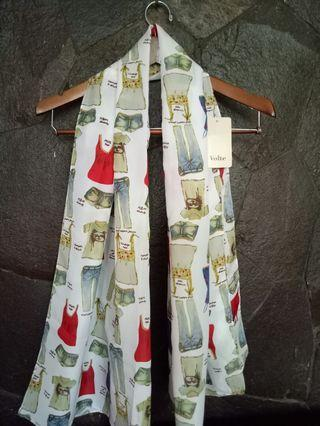 scarf bahan polyester motif cute