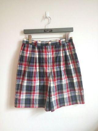 古著【JAGUAR】專櫃格子休閒短褲(13)格紋