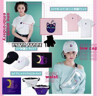 美少女戰士 x wego 系列 print tee 刺繡 tee cap 帽 包包 訂購