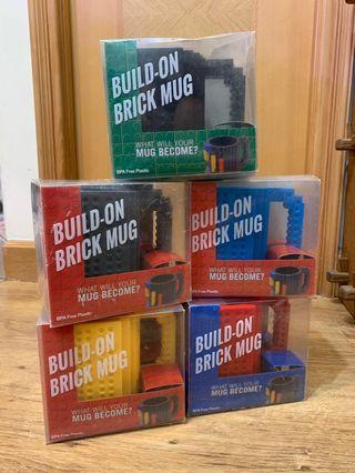Lego mug 5 pieces 杯共5隻 全新連盒