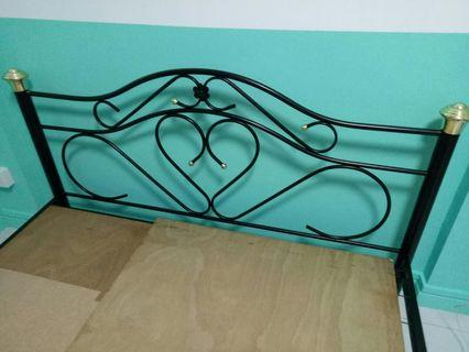 Bed frame metal. Simple and clean.