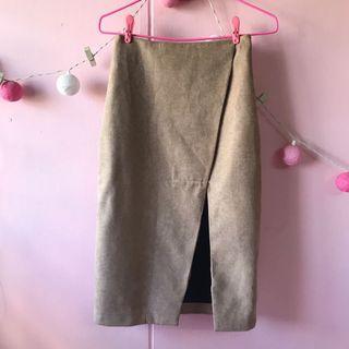 TTR Brown Cut Out Skirt