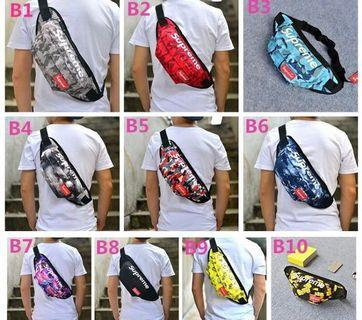Printed Canvas Supreme Waist Pouch Bag Chest Sling Bag