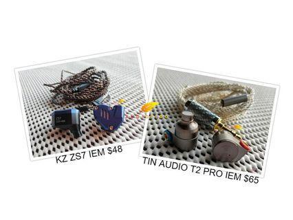 Clearance Sale 🎵 i12 TWS/Mifo O5 Pro/BGVP DM7 DM6 DMG/TRN/KZ AS10/ZST/ZSN PRO/ZS6/ZS3/ZS10/ZS5/Tin Audio T3 T2/TFZ/CCA/Moondrop Kanas Pro/Sabbat/Yinyoo/Havit G1 i93/16 8 4 Core Cable/IEM/Shure/Westone/AKG/Wireless Earbuds/Earphone/Bluetooth/2-Pin/MMCX